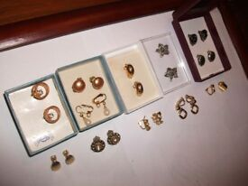 BROACHES, CLIP ON EARINGS, LOTS TO CLEAR , £1 EACH,
