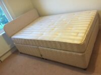 Double bed with headboard and mattress