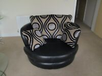 Leather Love Sofa As NEW.