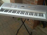 electric keyboard with stand as new