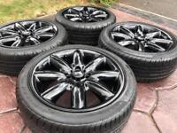 "Genuine 17"" BMW Mini Cooper Crown 8 Spoke Refurbished Alloy wheel Runflat tyres"
