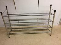 Shoe Rack extendable chrome 4 shelves