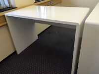 FOR SALE: x4 White Gloss Office Desks with modesty panel.