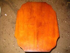Reprodux Bevan Funnell Regency style yew wood coffee table. Tilt top. Octagonal wine table c. 1970