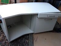 White locker cabinet - used