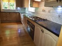 Used Optiplan Limed Oak Kitchen Units + Granite worktops