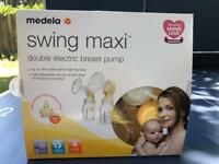 Double Electric Breastpump with Calma bottles