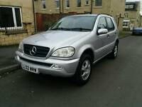 2002 MERCEDES ML 270 CDI 7 SEATER 10 MONTHS MOT