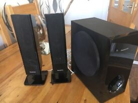 Panasonic home theatre sound system with subwoofer