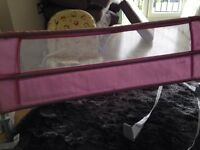Pink toddler bed guard