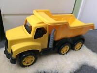 Very large yellow dumper truck brand new ride on