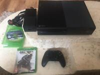 Xbox one controllor and 2 games