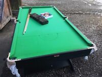 6 ft fold away pool and snooker table