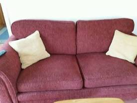 3 piece suite sofa 2 chairs with footstool