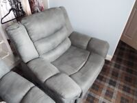 Two Off, Grey, Electric Recliner Chairs