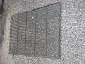 LARGE VINTAGE METAL GRILL GALVANISED STEEL DOOR MAT ~ BOOT SCRAPER