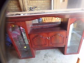 FREE - wooden/glass unit - FREE
