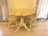 Fold down table and chairs