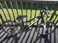 "Mongoose mountain bike, 26""wheels, small frame. £25"