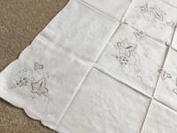 Vintage cream Tablecloth