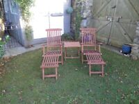 Garden wooden steamer/loungers