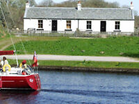 Holiday Cottage on banks of the Crinan Canal, Argyll (newly available)