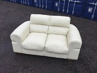 Italian Leather Sofa V.G.C. Condition , Free Delivery In Norwich.