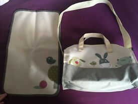 Baby changing bag with mat
