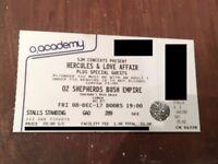 x2 Hercules & Love Affair Shepherd's Bush Empire Standing Tickets