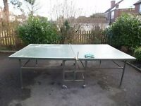 Full size foldable wheeled table tennis table
