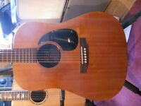 Martin DX electro acoustic guitar
