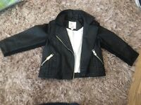 Beautiful leather jacket 12-18 months