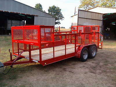 New 2019 - 77 X 16 Professional Landscape Utility Mower Grass Haul Trailer