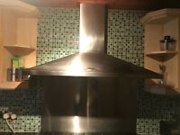 Rangemaster 110 cooker hood with splash back