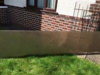1 long grey tinted polycarbonate sheet 346x70x2.5 cm, £20