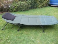 Carp Fishing Bed Chair, Sleeping Bag & Over throw.