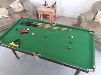 Folding Pool and Snooker Table