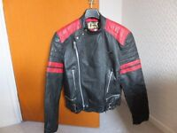 Classic Leather Motorcycle Jacket. Size 44.