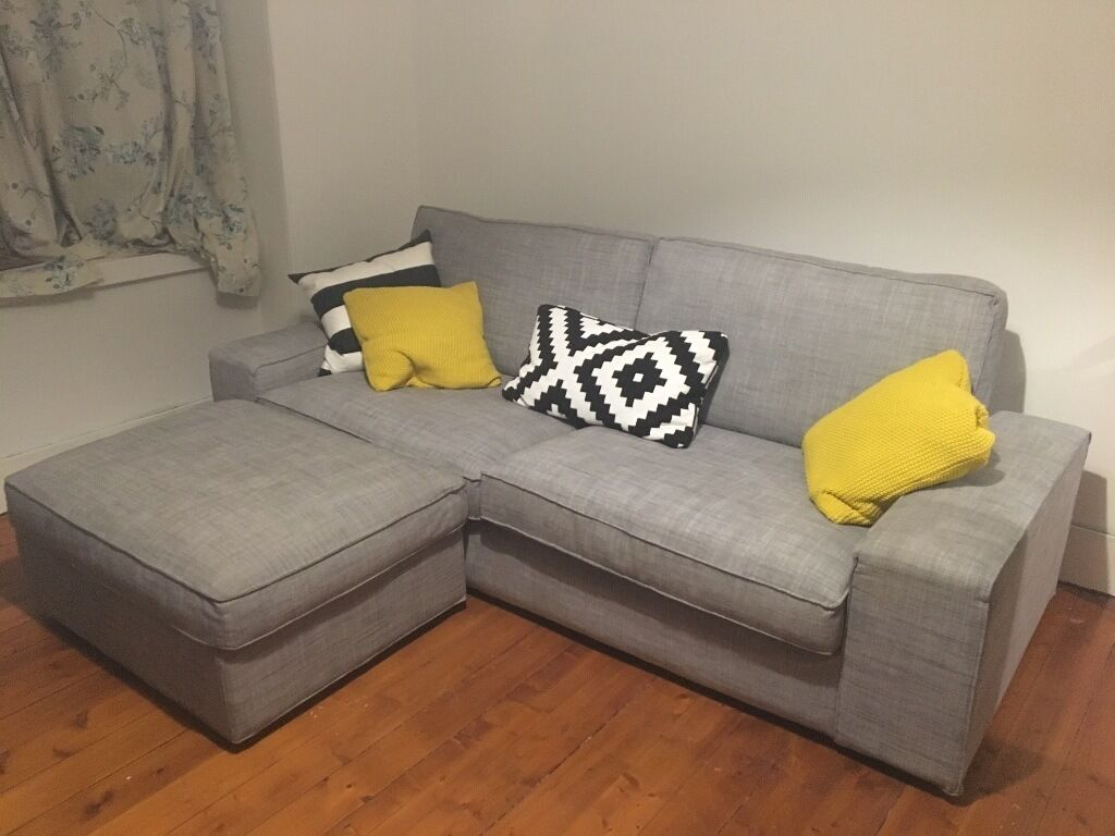 ikea kivik sofa footstool grey in aberdeen gumtree. Black Bedroom Furniture Sets. Home Design Ideas
