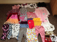 Large Bundle Bag full of baby girls clothing/shoes Size 6-9 months some BNWT over 80 items