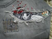 Refashion - Extreme Patching Sewing Class. Wear your repairs with Pride! Next class is 19th March