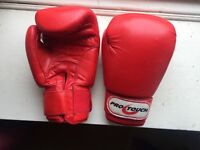 10oz PROTOUCH BOXING GLOVES RED GENUINE LEATHER