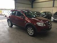 08 Reg Chevrolet Captiva 2.0 vcdi ltx automatic 7 seater leather low miles cheap 4x4