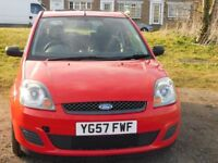 Ford Fiesta 1.25 Petrol 2007 Red