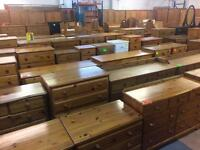 Solid wood / pine chest of draws