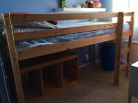 Pine Shorty Mid Sleeper Bed