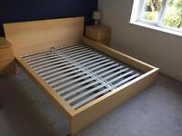 Kingsize bed frame - ikea malm