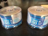Brand New DVD-R Discs 2x50 Discs