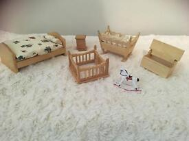 Childs bedroom set dolls house 1:12th