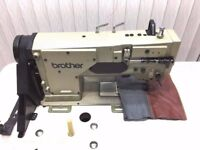 Brother Twin Needles Split Bar Knockout Needle Feed Industrial Sewing Machine